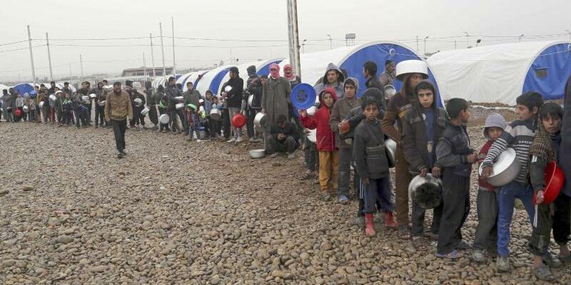 Flüchtlingslager im Irak - Foto: Die Internationale Organisation für Migration geht von 206.000 Flüchtlingen aus. Foto:Khalid Mohammed