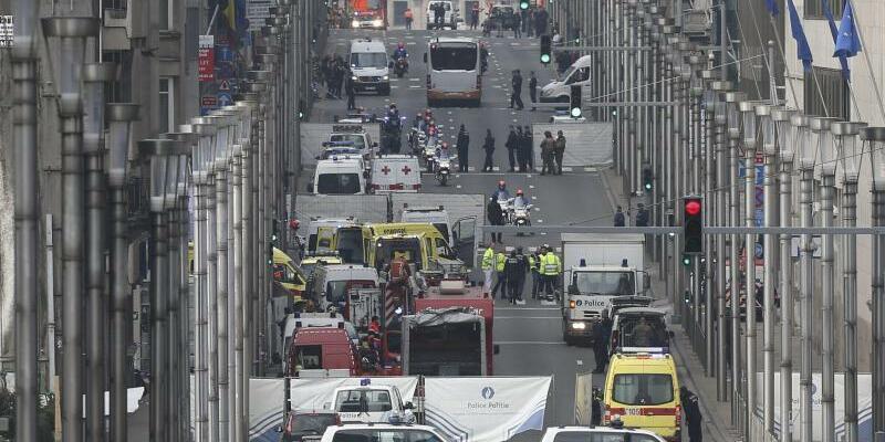 U-Bahn-Station - Foto: Anschlag auf die Brüsseler Metro-Station Maelbeek am 22.03.2016. Foto:Olivier Hoslet