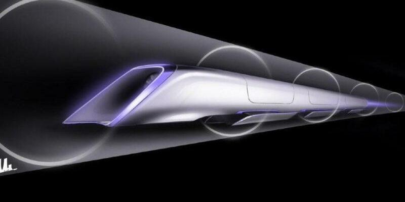Hyperloop Verkehrssystemkonzept - Foto: Elon Musk/Handout