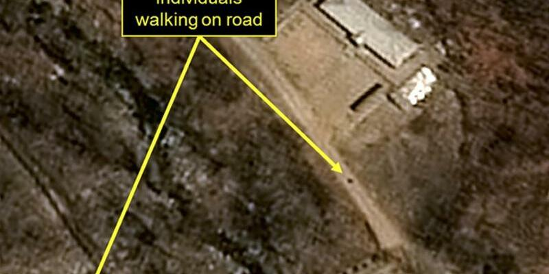 Atomwaffen-Testgelände in Nordkorea - Foto: Pleiades CNES/Airbus DS/38 North/Spot Image/AP