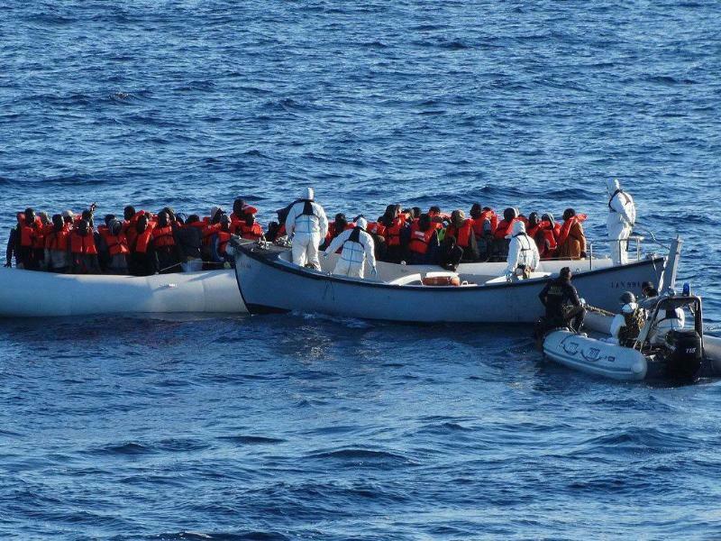 Flüchtlingsboote - Foto: Italian Navy Press Office/Archiv