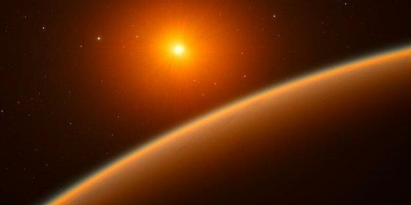 Neu entdecker Exoplanet - Foto: Eine undatierte grafische Darstellung zeigt den Exoplaneten LHS 1140b. Der Exoplanet kreist um den roten Zwergstern LHS 1140 im Sternbild Walfisch (Cetus), hat einen Durchmesser von etwa 18 000 Kilometern und fast sieben Mal soviel Masse wie unsere Erde.