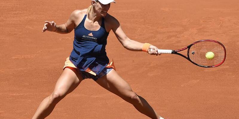 Kraftakt - Foto: Angelique Kerber brauchte in Madrid für den Sieg über Katerina Siniakova aus Tschechien drei Sätze. Foto:Gtres