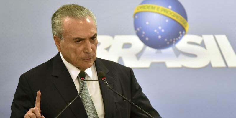 Brasiliens Präsident Michel Temer - Foto: Ricardo Botelho