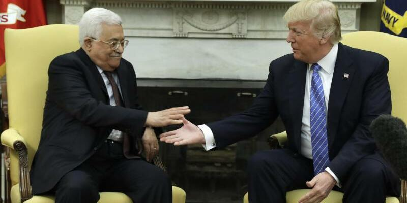Trump und Abbas - Foto: Evan Vucci