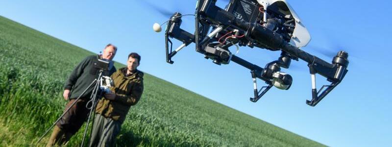 Drohne im Einsatz - Foto: Matthias Balk