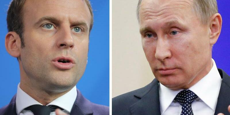 Emmanuel Macron und Wladimir Putin - Foto: M. Kappeler, A. Zemlianichenko