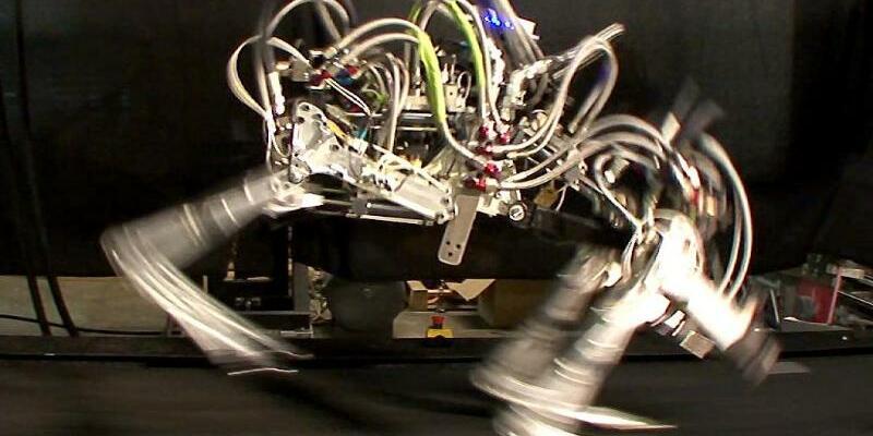 Boston Dynamics - Foto: Diese Roboter-Laufstudie der US-Firma Boston Dynamics erinnert an einen Geparden. Foto:Boston Dynamics