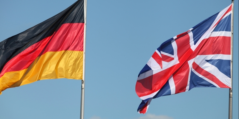 Fahnen von Deutschland und Großbritannien - Foto: über dts Nachrichtenagentur