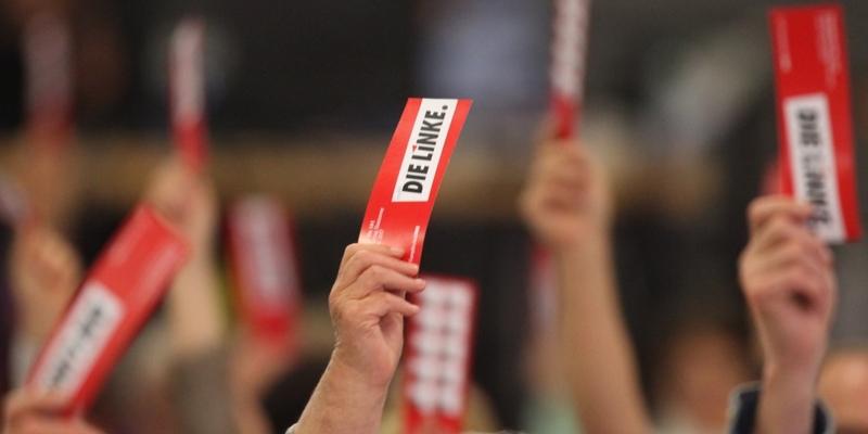 Abstimmung auf Linken-Parteitag - Foto: über dts Nachrichtenagentur
