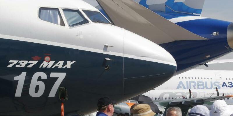 Paris Air Show - Foto: Fast alle Bestellungen entfielen dabei auf die Mittelstreckenjets Boeing 737-MAX und Airbus' A320neo-Modelle. Foto:Michel Euler