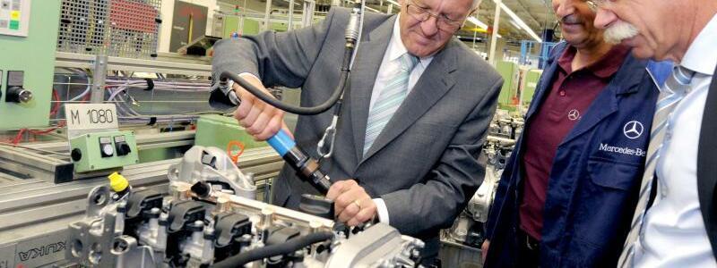 Kretschmann besucht Daimler - Foto: Franziska Kraufmann