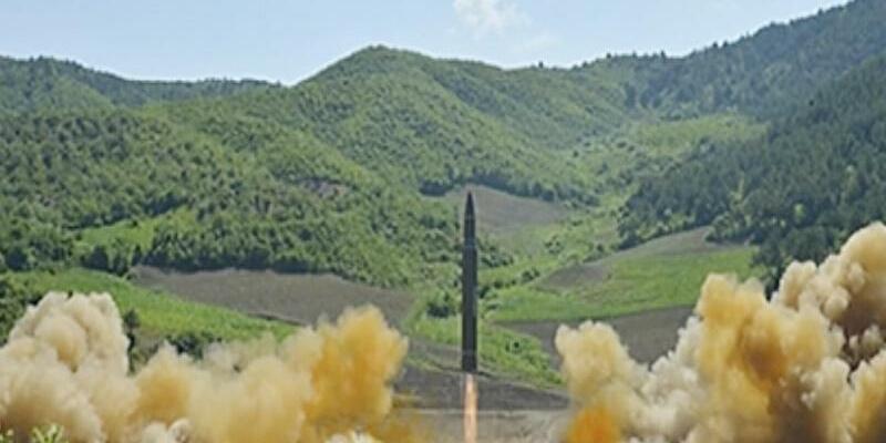 Angeblicher Test einer Interkontinentalrakete - Foto: KRT