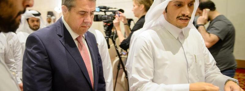 Gabriel in Katar - Foto: Gregor Fischer