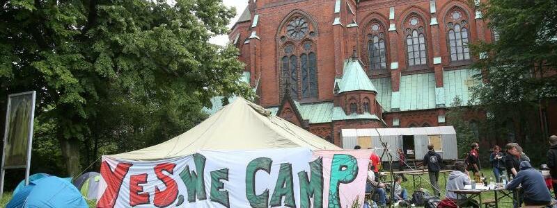 Protestcamp an der Johanniskirche - Foto: Bodo Marks