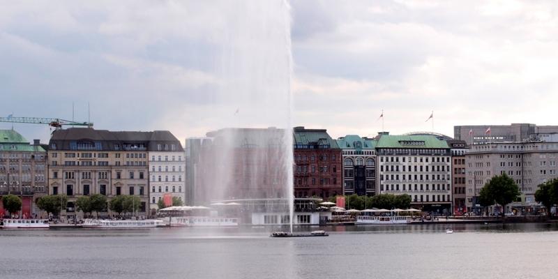 Fontäne an der Binnenalster in Hamburg - Foto: über dts Nachrichtenagentur