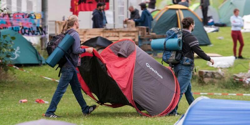 Protestcamp - Foto: Daniel Bockwoldt