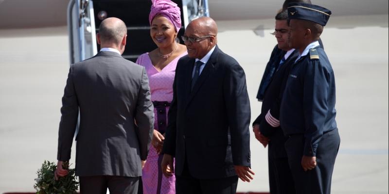 Olaf Scholz begrüßt Jacob Zuma am 06.07.2017 - Foto: über dts Nachrichtenagentur