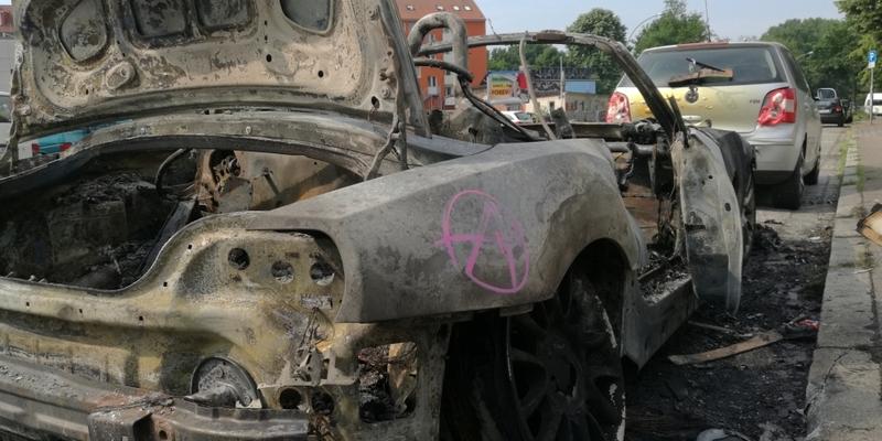 Ausgebranntes Auto nach Anti-G20-Protestnacht in Hamburg - Foto: über dts Nachrichtenagentur