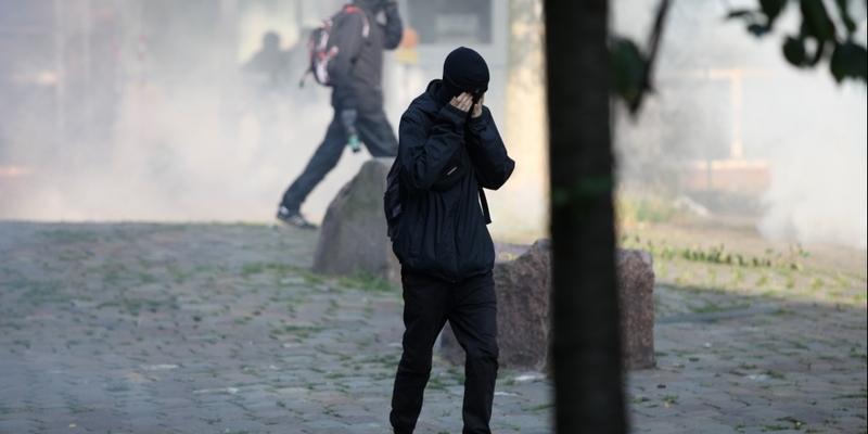Vermummte Randalierer bei Anti-G20-Protest am 07.07.2017 - Foto: über dts Nachrichtenagentur