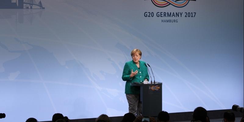 Angela Merkel am 08.07.2017 - Foto: über dts Nachrichtenagentur