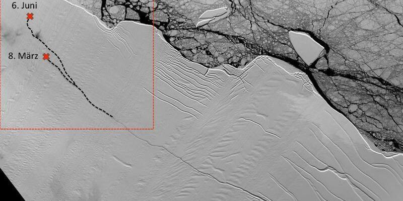Larsen-C-Schelfeis - Foto: Landsat/NASA