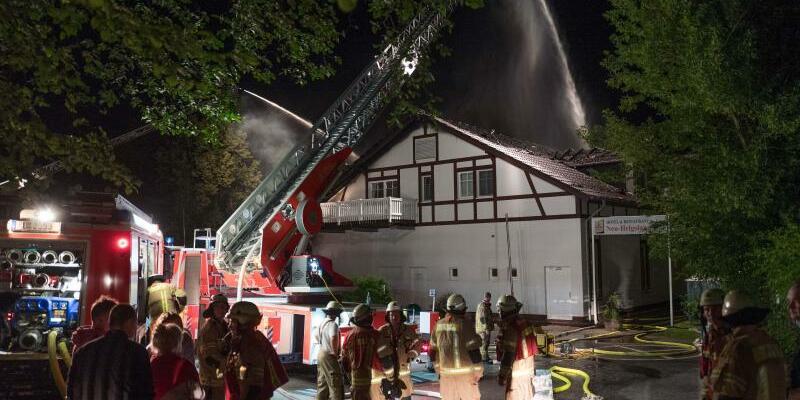 Brand in der Gaststätte Neu-Helgoland - Foto: Jörg Carstensen
