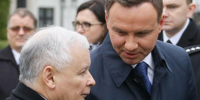 Duda und Kaczynski - Foto: Pawel Supernak