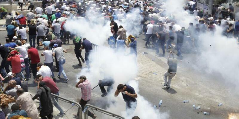 Tränengas-Schwaden - Foto: Mahmoud Illean
