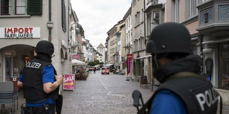Polizeieinsatz in Schaffhausen - Foto: Ennio Leanza