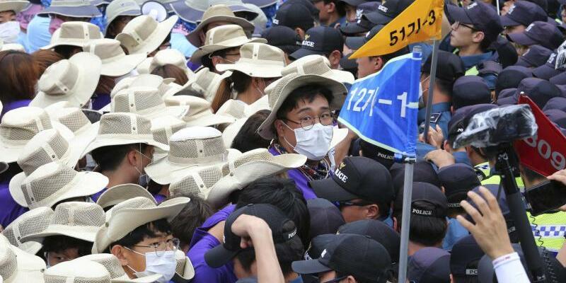 Proteste in Südkorea - Foto: Ahn Young-Joon