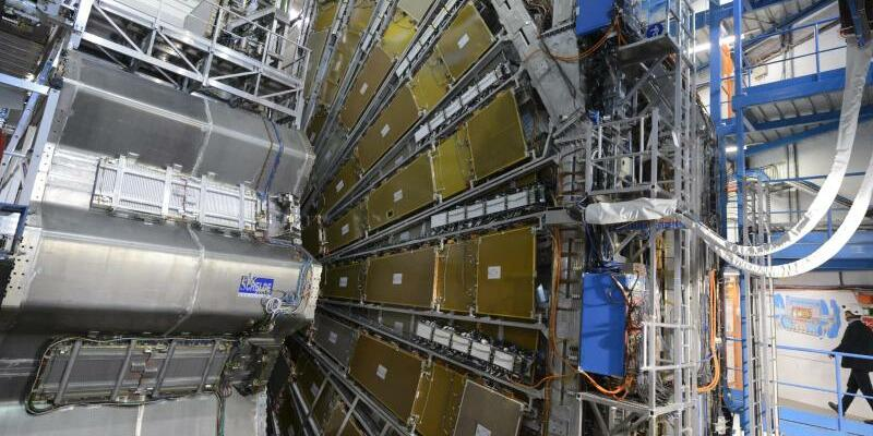 Teilchendetektor Atlas im Teilchenbeschleuniger LHC - Foto: Laurent Gillieron