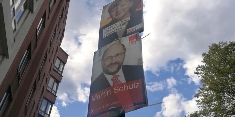 Wahlplakate von SPD und CDU - Foto: über dts Nachrichtenagentur