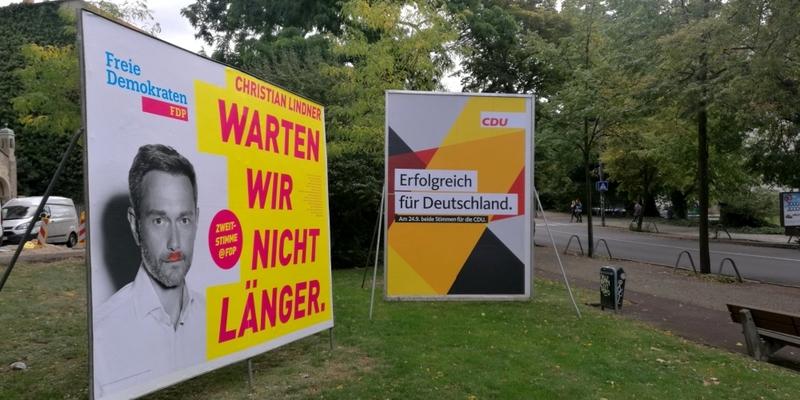 Wahlplakate von FDP und CDU - Foto: über dts Nachrichtenagentur