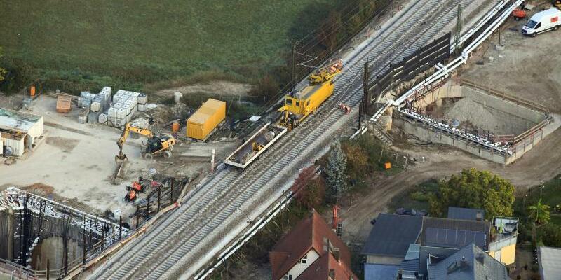 Baustelle Rheintalbahn bei Rastatt - Foto: Uli Deck