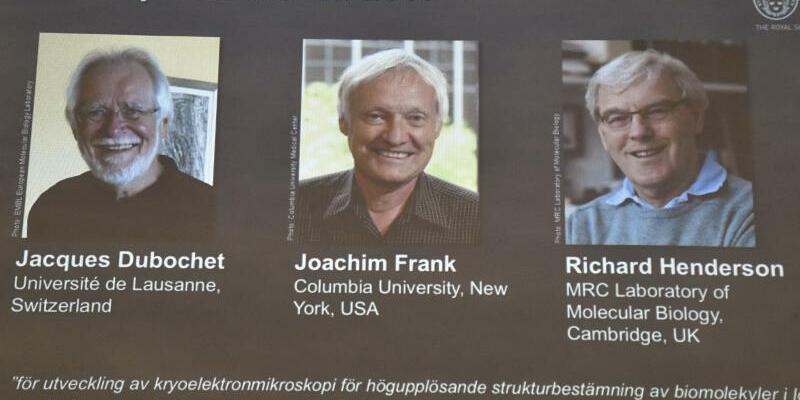 Chemie-Nobelpreisträger - Foto: Der Nobelpreis für Chemie geht an Jacques Dubochet, Joachim Frank und Richard Henderson. Foto:Claudio Bresciani
