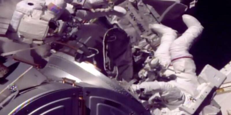 Mark Vande Hei und Randy Bresnik - Foto: NASA TV