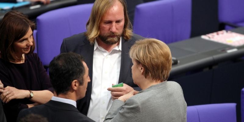 Merkel mir Özdemir, Göring-Eckardt, Hofreiter - Foto: über dts Nachrichtenagentur