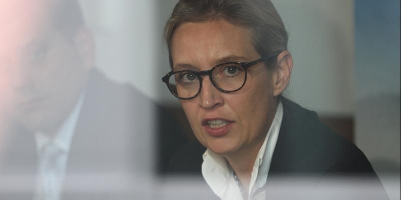 Alice Weidel hinter einer Scheibe - Foto: über dts Nachrichtenagentur