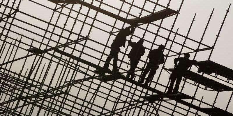 Arbeit auf dem Bau - Foto: Christian Charisius
