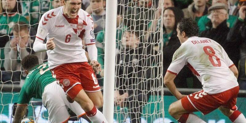 Klare Sache - Foto: Dänemark besiegt Irland mit 5:1 und hat damit die WM-Teilnahme sicher. Foto:Peter Morrison