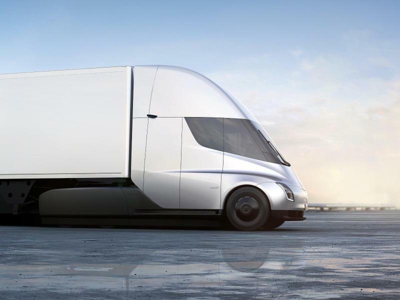 Teslas Elektro-Lastwagen - Foto: Tesla