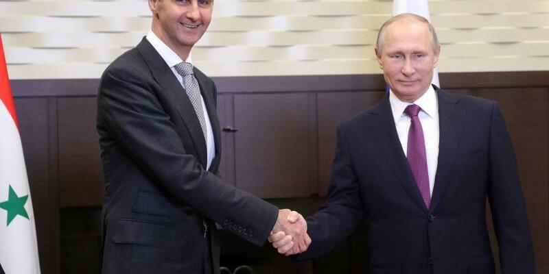 Assad trifft Putin - Foto: Michael Klimentyev