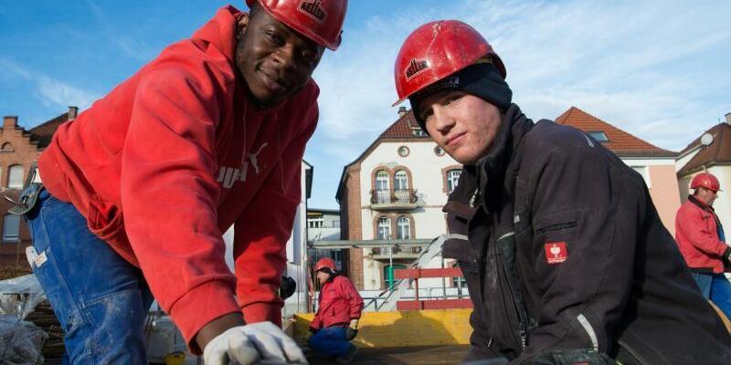 Azubis in der Bauwirtschaft - Foto: Sina Schuldt
