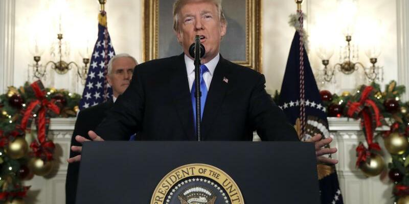 Trump-Rede in Washington - Foto: Evan Vucci