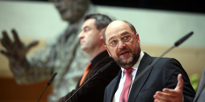 Markus Söder und Martin Schulz im Willy-Brandt-Haus - Foto: über dts Nachrichtenagentur