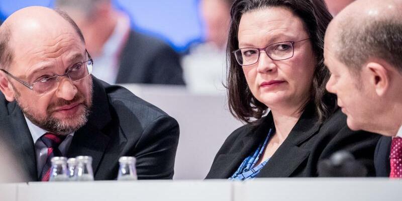 Schulz, Nahles und Scholz - Foto: Michael Kappeler