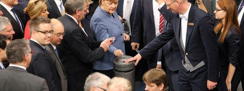 Abstimmung im Bundestag - Foto: Wolfgang Kumm