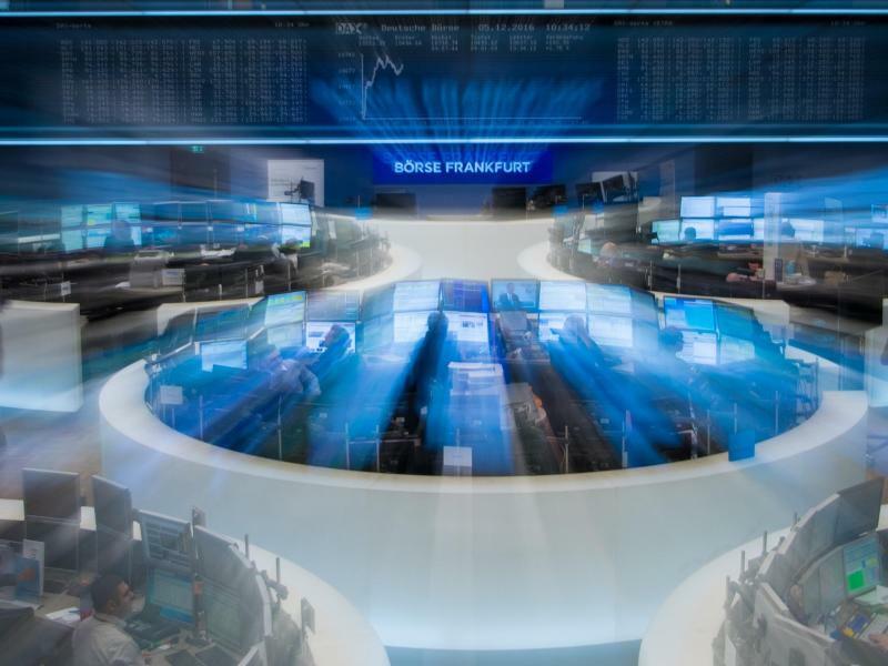 Börse Frankfurt - Foto: Der deutsche Leitindex Dax eilt von Rekord zu Rekord und übersprang kurzzeitig erstmals die Marke von 13 500 Punkten. Foto:Bpris Roessler