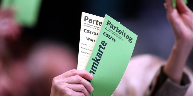 Abstimmung auf CSU-Parteitag - Foto: über dts Nachrichtenagentur